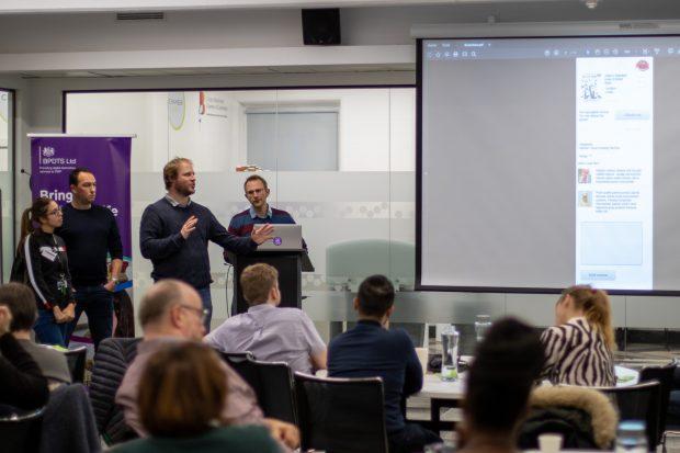 BPDTS Hackathon team presenting their prototype.