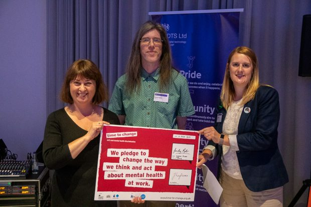 Loveday, Martin & Louis with the Time to Change Pledge