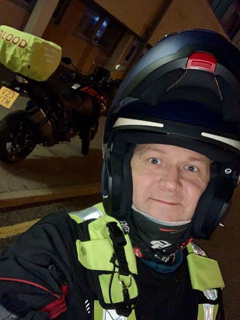 Garry Crooks, DSPM at BPDTS suited up in helmet and high visibility jacket.