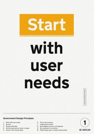 Start with user needs