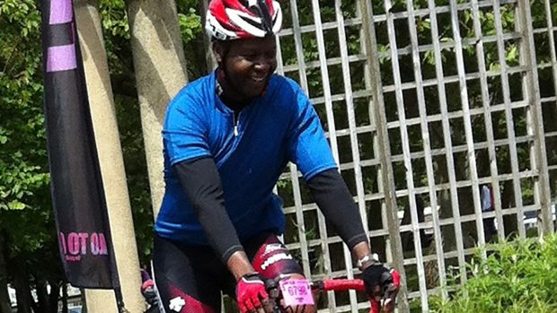 Juma Mwazanzale, BPDTS Infrastructure Engineer, cycling.